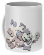 Jumbled Letters Coffee Mug