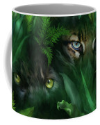 Jungle Eyes - Panther And Ocelot  Coffee Mug