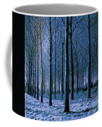 Jungle Trees In Blue  Coffee Mug