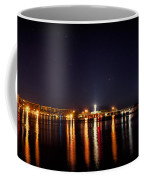 Jupiter Florida  Inlet Lighthouse At Night Coffee Mug