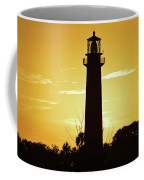 Jupiter Lighthouse Golden Sunrise Coffee Mug