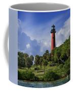 Jupiter Lighthouse Sq Coffee Mug