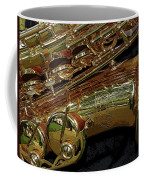 Jupiter Saxophone Coffee Mug by Michelle Calkins