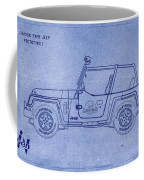 Jurassic Park Jeep Blueprint Coffee Mug