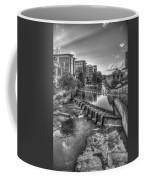 Just Before Sunset B W Reedy River Falls Park Greenville South Carolina Art Coffee Mug