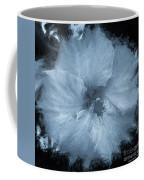 Blue Hibiscus Floral Portrait Coffee Mug