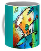 Just Having Fun Original Pop Art Abstract Painting By Madart Coffee Mug