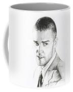 Justin Timberlake Drawing Coffee Mug