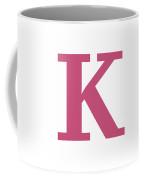 K In Pink Typewriter Style Coffee Mug