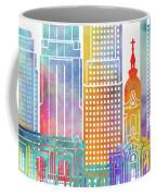 Kansas City Landmarks Watercolor Poster Coffee Mug