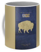 Kansas State Facts Minimalist Movie Poster Art Coffee Mug