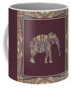 Kashmir Patterned Elephant 2 - Boho Tribal Home Decor  Coffee Mug