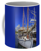 Kathleen Gillett The Artist Cruising Ketch Coffee Mug