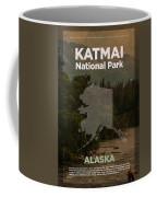Katmai National Park In Alaska Travel Poster Series Of National Parks Number 34 Coffee Mug