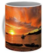 Kauai Sunset And Boat At Anchor Coffee Mug