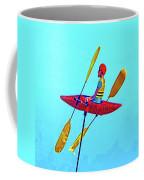Kayak Guy On A Stick Coffee Mug