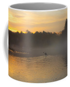 Kayak On The River At Dawn Coffee Mug