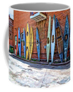 Kayaks On A Wall  Coffee Mug