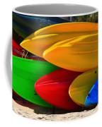 Kayaks On The Beach Coffee Mug