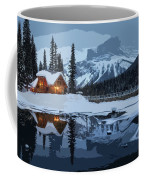Keep The Home Fires Burning For The Weary Winter Traveler Coffee Mug