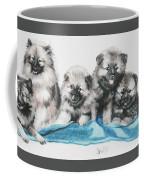 Keeshond Puppies Coffee Mug