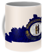 Kentucky Map Art With Flag Design Coffee Mug