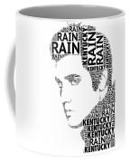 Kentucky Rain Elvis Wordart Coffee Mug