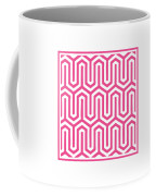 Key Maze With Border In French Pink Coffee Mug