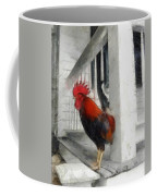 Key West Porch Rooster Coffee Mug by Michelle Calkins
