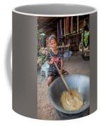 Khmer Girl Makes Sugar Cane Candy Coffee Mug