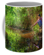 Khmer Woman Fishing - Cambodia Coffee Mug