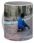 Kid Skateboarding Coffee Mug