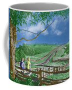Kids On A Fence Coffee Mug