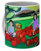 Kids Playing And Picking Apples Coffee Mug