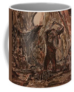 King Kong - Kong Battles A Serpentine Dinosaur Coffee Mug