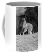 King Of Beasts Black And White Coffee Mug