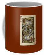 King Of Diamonds In Wood Coffee Mug