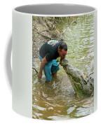 Kissing A Crocodile Coffee Mug