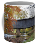 Kissing Bridge At Fall Coffee Mug