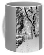 Kissing Gate In The Snow Coffee Mug
