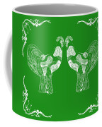 Kissing Roosters 3 Coffee Mug