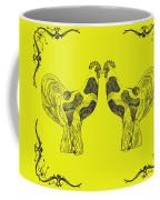 Kissing Roosters 5 Coffee Mug