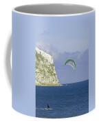 Kitesurfer At Yaverland Coffee Mug