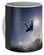 Kitesurfing In The Mediterranean Sea  Coffee Mug by Hagai Nativ