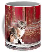 Kitten By Red Door Coffee Mug