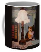 Kitten By The Lamp Coffee Mug