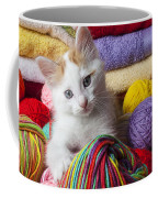 Kitten In Yarn Coffee Mug