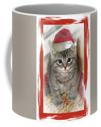 Kitten Playing Santa  Coffee Mug