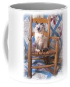 Kitten, Quilt And Rocker Coffee Mug