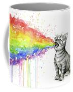 Kitten Tastes The Rainbow Coffee Mug